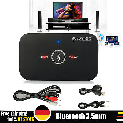 3,5mm Wireles 2 in1 Bluetooth Empfänger Adapter Dongle Sender Musik Audio Stereo