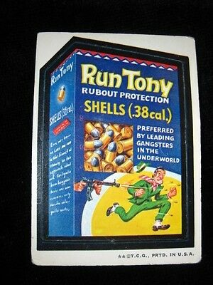 Wacky Packages Run Tony Ludlow Black Back-Very Rare To Find Series 2