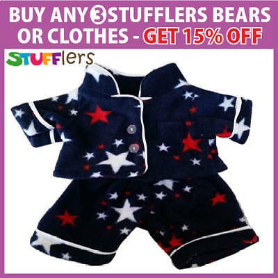 Sleeptime PJS pajamas Clothing Outfit by Stufflers – Will fit on a Build a bear