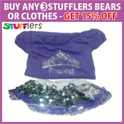 Purple Shirt & Skirt Clothing Outfit by Stufflers – Will fit on a Build a bear