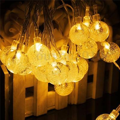 30 LED Solar Fairy String Light Festival Ambience Light Outdoor Xmas Waterproof