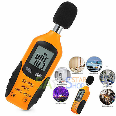Digital LCD Backlight Sound Level Noise Meter Decibel Pressure DB Measure Tester