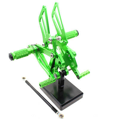 Green Aluminum Foot Pegs Rearset For Kwasaki ZX9R 1998 1999 2000 2001 2002 2003