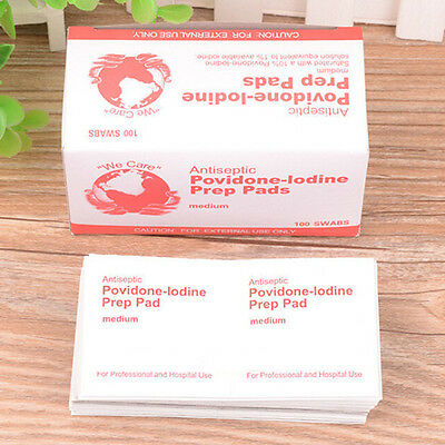 First Aid Lodine Tablets Antiseptic Povidone-Lodine Prep Pad For Emergency 10X