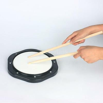 """High Quality10"""" Drum Practice Pad with Drumsticks Carrying Bag for Training G3X7"""