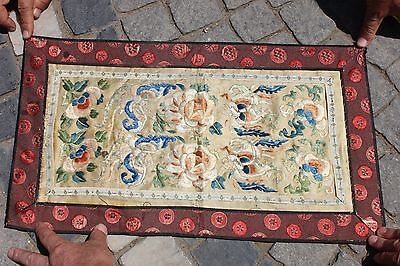 Antique Original Perfect Handmade Full Silk China Asian Textile