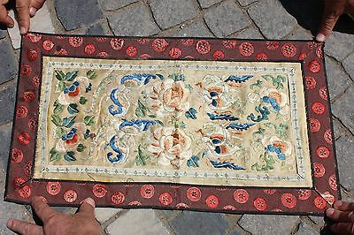 Antique Original Perfect Handmade Full Silk Chinese  Asian Textile