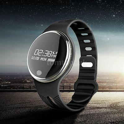 E07 Smart Watch Orologio Bluetooth Sport Bracciale Per IOS Android Nero U2H9