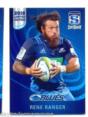 2016 Investec Super Rugby Limited Edition 02/25 Rene Ranger - Blues