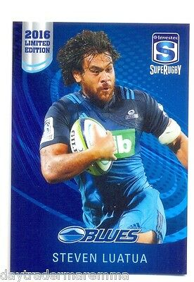 2016 Investec Super Rugby Limited Edition 03/25 Steven Luatua - Blues