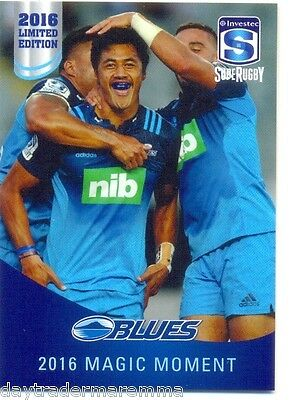2016 Investec Super Rugby Limited Edition 05/25 2016 Magic Moment - Blues