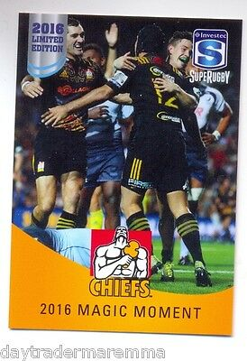 2016 Investec Super Rugby Limited Edition 10/25 2016 Magic Moment - Chiefs