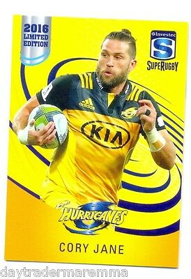 2016 Investec Super Rugby Limited Edition 13/25 Cory Jane - Hurricanes
