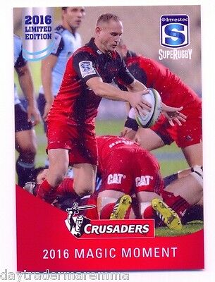 2016 Investec Super Rugby Limited Edition 20/25 2016 Magic Moment - Crusaders