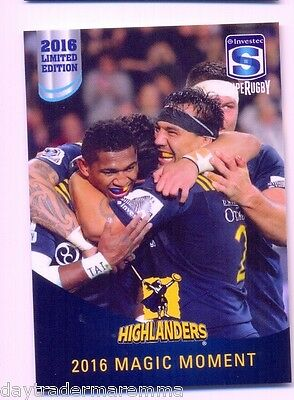 2016 Investec Super Rugby Limited Edition 25/25 2016 Magic Moment - Highlanders