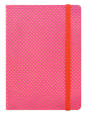 Letts A5 Letts Pink Gold Dots Week to View (On 2 Pages) Flexi Planner Diary 2017