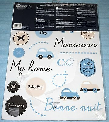 Stickers décor muraux repositionnables Candide Petit Dandy