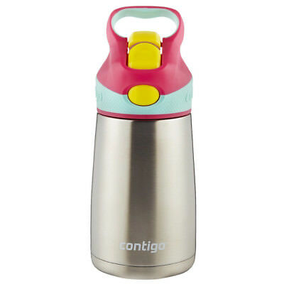 Contigo 10 oz. Kid's Striker Chill Stainless Steel Water Bottle - Cherry Blossom