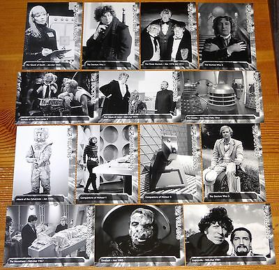 Classic Doctor Who Television - 200 Mint Set of Trilogy Monochrome Series Cards