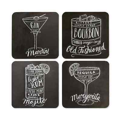 Lily & Val Drinks Coasters - 4 Square Coasters - Gift for Women - New Home gift