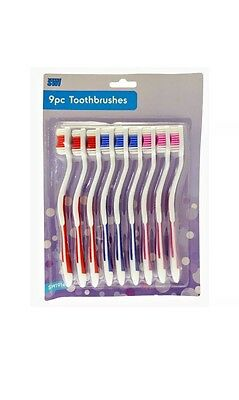 9   Pack Adult Family Toothbrush For Medium Hard Oral Dental Personal Care