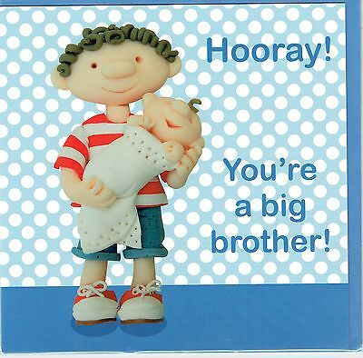 Hooray! You're A Big BROTHER new baby Card - suitable for birth of boy or girl