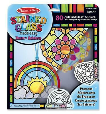 Stained Glass Made Easy Activity Kit: Heart and Rainbow - 80+ Stickers - Melissa