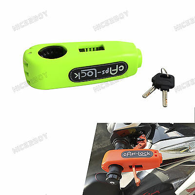 Universal Scooter Motorcycles Green Brake lever Grip Anti Theft Security Lock