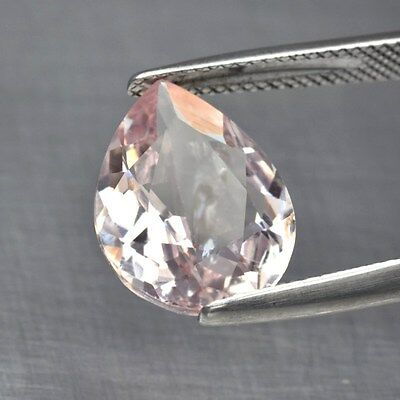 Gorgeous! 5.52ct 14x11.5mm Pear Natural Unheated Light Pink Morganite