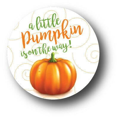 30 A little pumpkin is on the way! - Baby Shower Stickers