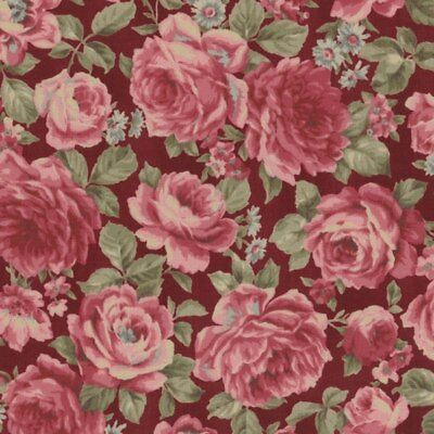 Antique Rose~Mixed Roses~Cotton Fabric by Lecien