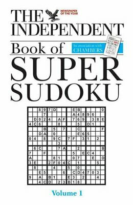 The Independent Book of Super Sudoku: v. 1 Paperback Book The Cheap Fast Free