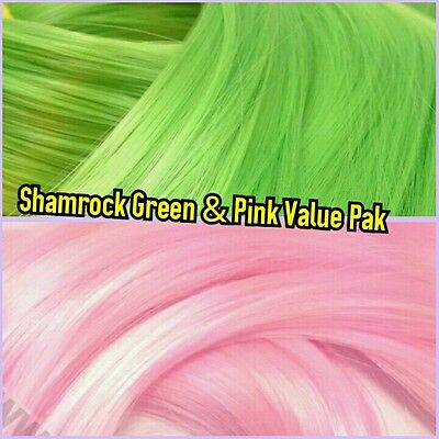 Blue /& Green XL 4oz 2 Color Value Pack Nylon Doll Hair Hanks for Rerooting