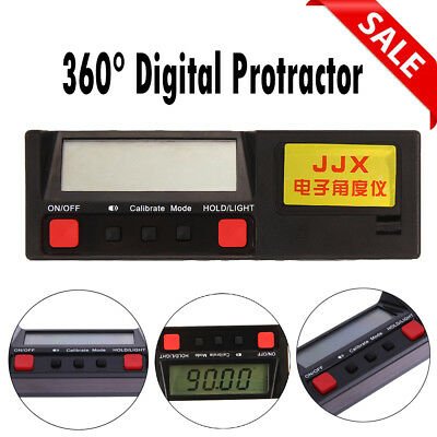 360° Electronic Digital Protractor Inclinometer Angle  Finder Industrial Meter