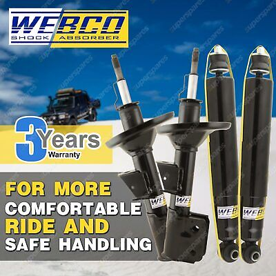 Front + Rear Webco 4X4 Gas Shock Absorbers JEEP CHEROKEE WH 4WD Wagon 2005 ON