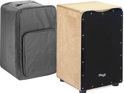 Stagg CAJ-50M BK Cajon Drum With Free Gigbag Black