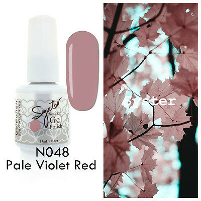 SYSTER 15ml Nail Art Soak Off Color UV Lamp Gel Polish N048 - Pale Violet Red