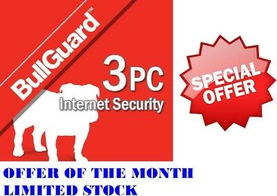 New Bullguard Security / Antivirus 2019 Activation Code Only, 3 PCs,Mac,Android