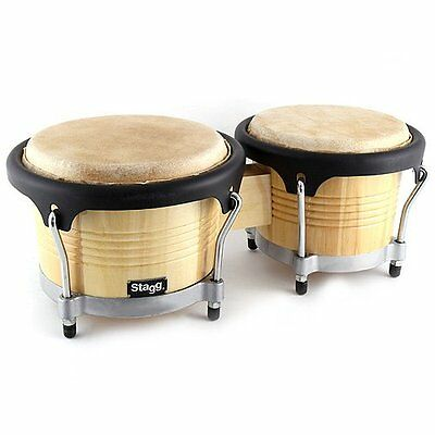 Stagg BW-300-N Latin Deluxe Wood Bongo Set