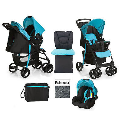 New Hauck Shopper Slx Shop N Drive Travel System + Accessories From Birth
