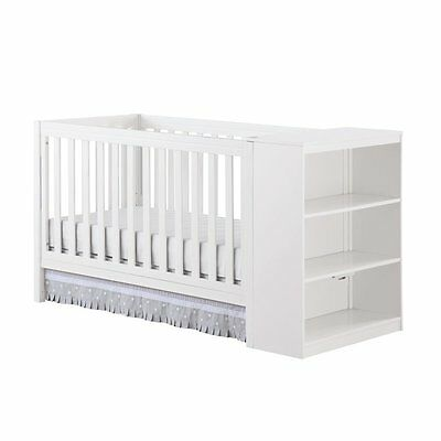 Baby Relax Ayla 2 in 1 Convertible Crib with Storage in White