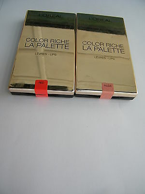 L'Oreal Paris Color Riche Lip Palette Red &Nude All In Price £10.99