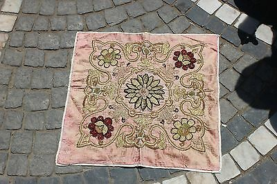 Antique Original Perfect Handmade Asian Full Sim Silk Velvet Textile
