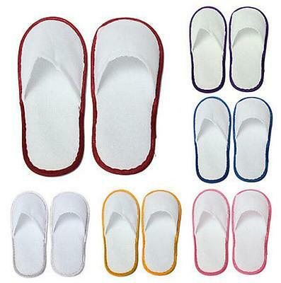1 pairs Guest Pop Terry Hotel White Towelling Spa Slippers Disposable Shoes
