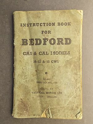 Instruction Book for Bedford CAS & CAL Models 10-12 & 15 CWT 1959