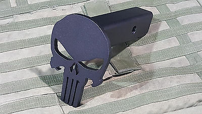 Hitch Cover - Punisher Skull - AR500 Steel Plate - Powdercoat Black