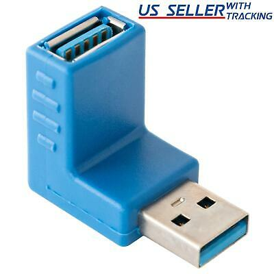 (5 Pack) USB 3.0 Right Angle Connector Type-A Male to Female Adapter 5x