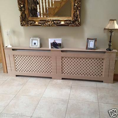 Radiator Covers Wooden MDF Bespoke Design 15mm Thick Wood Custom Sizes Available