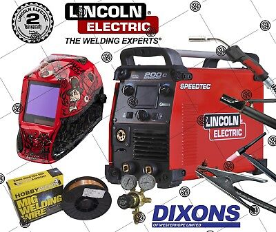 Lincoln Electric Speedtec 200C Multi Process Welder 200AMP MIG TIG ARC STICK MMA