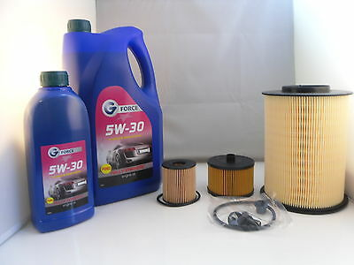 Ford C-Max 2.0 TDCI Diesel Service Kit Oil Air Fuel Filter 5w30 Oil 2007 to 2010